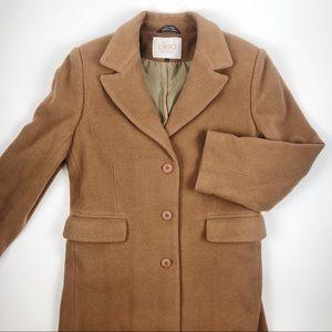 Cleo petites wool tan coat